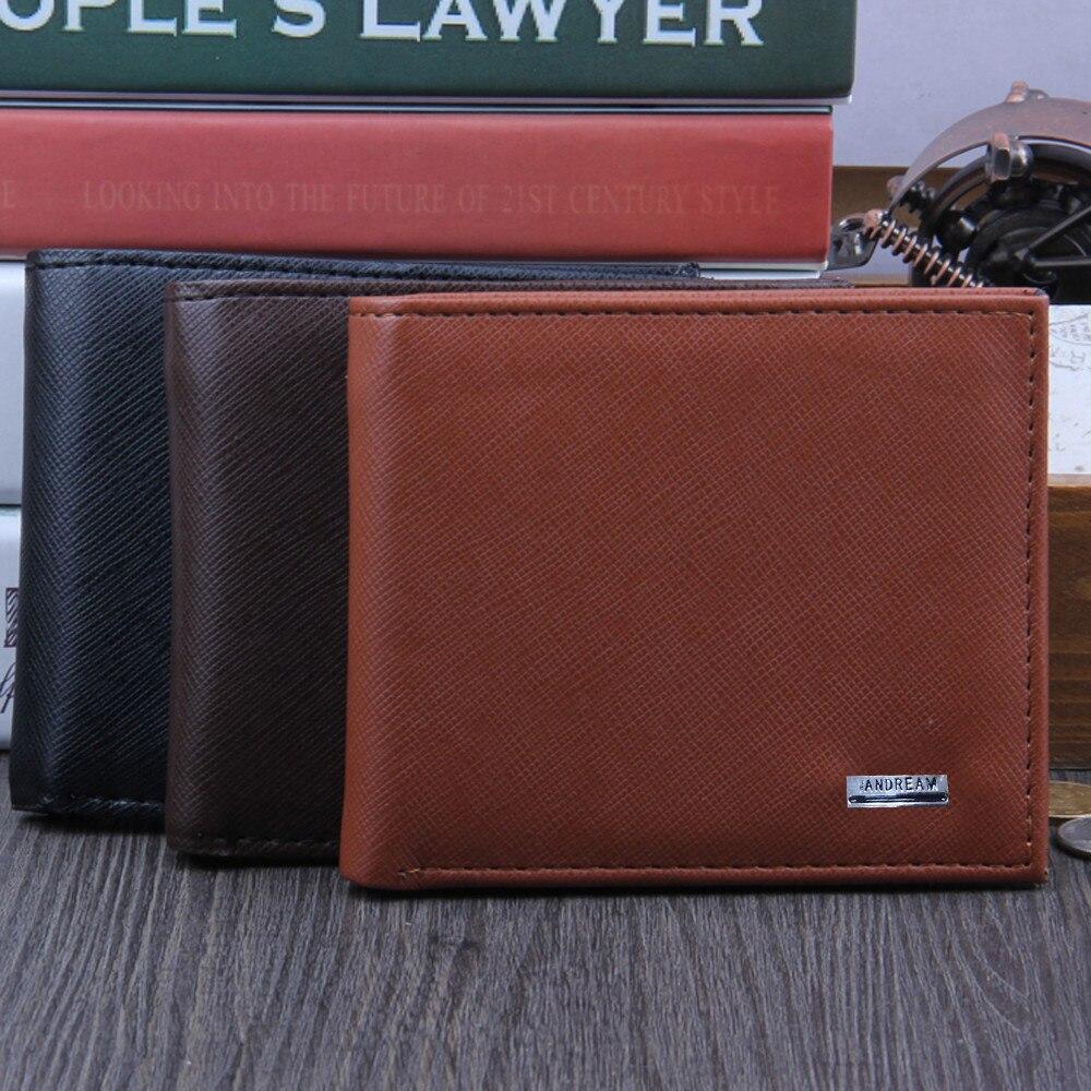 Men Bifold Business Leather Wallet  ID Credit Card Holder Purse men's wallet clutch portfel cuzdan billetera carteira  (26)