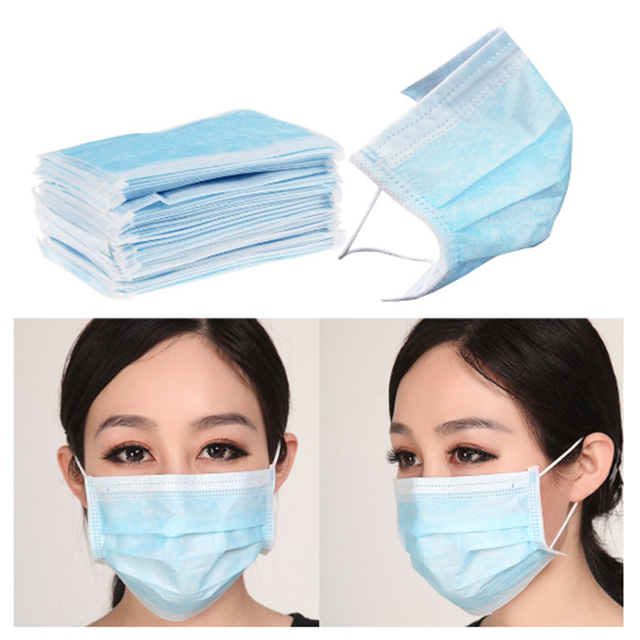 200 Pcs English Packing Medical Surgical Protective Mask 3 Layer Efficient Filtering Anti-Flu Bacterial Dust-Proof Face Mask 4