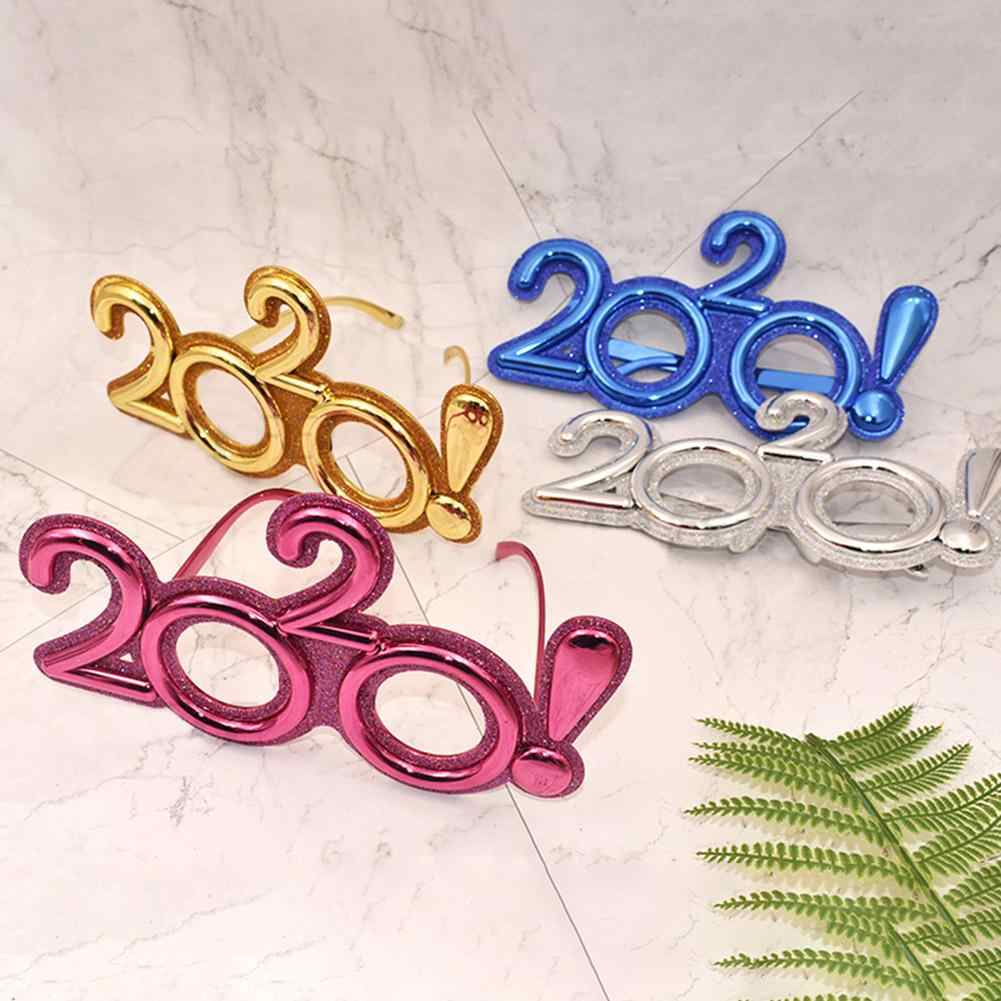 Masquerade Accessories Birthday Party Supplies Glasses 2020 Costume Cosplay Props Features New Year 2020 Design Christmas Decor