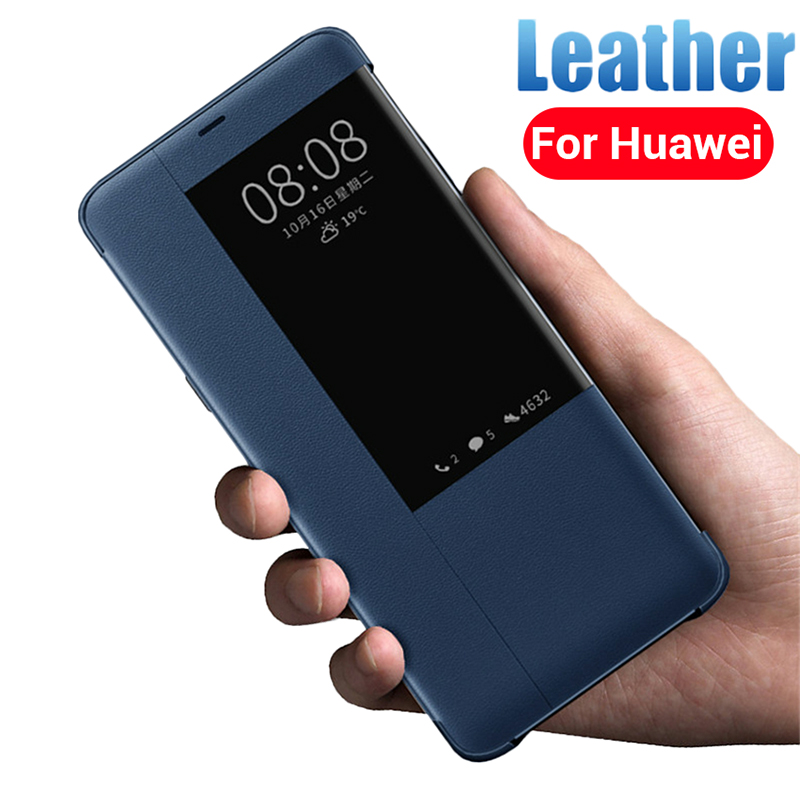 Luxury 360 Smart Flip Leather Phone Case for Huawei P30 <font><b>Lite</b></font> <font><b>Mate</b></font> <font><b>20</b></font> Light P20 Pro 3D Soft Front Back Cover For <font><b>Hawei</b></font> P 30 Coque image