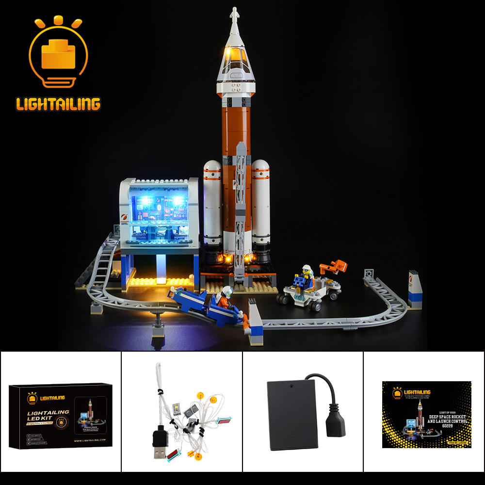 LIGHTAILING LED Light Kit For 60228 City Series Deep Space Rocket And Launch Control Toy Building Blocks Lighting Set