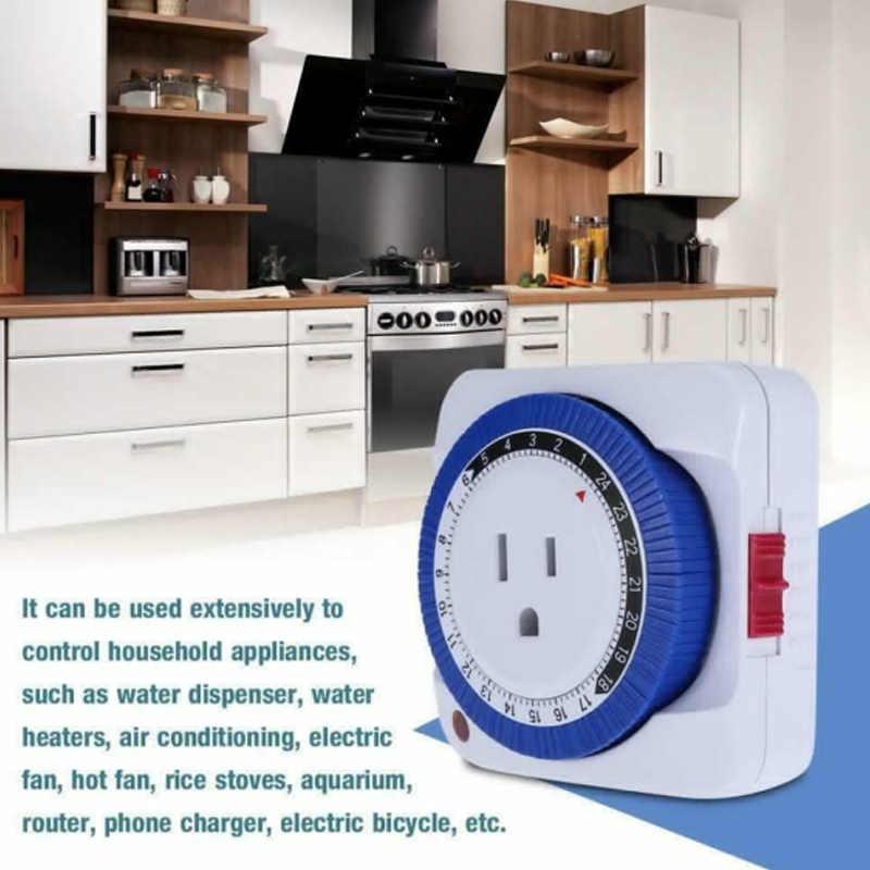 Wysokiej 24 godzin Timer mechaniczny przełącznik gniazdo elektryczne ścienne gniazdo elektryczne zegar użytku domowego LG66
