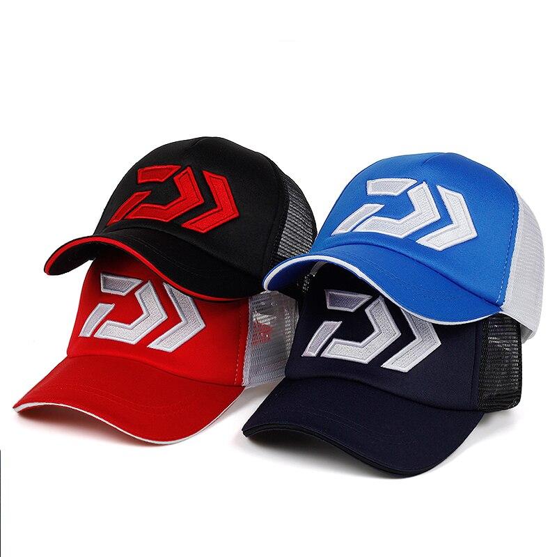 2019 New Summer Sun Cap Breathable Wicking Mesh Visor Ventilation Adjustable Sun Hat Daiwa Male Outdoor Fishing Brand Caps