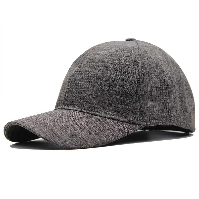 100% Cotton Mũ Bóng Chày Xám Đen Trưởng Thành Nón Snapback Nam Nữ Màu Trơn Hip Hop Bố Nón