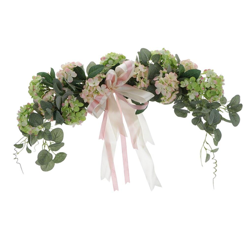 Artificial Hydrangea Flower Wreath Swag Door Wall Home Wedding Arch Decor Garden Window Hanging Decoration Wreath