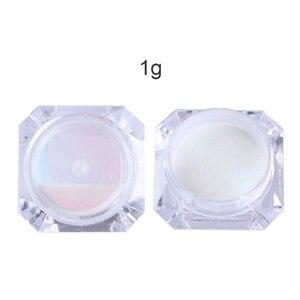 Image 4 - 1g Spiegel Glitter Schimmer Pulver Nagel Chrom Pigment Dazzling Salon Micro Pulver Laser Nail art Dekorationen