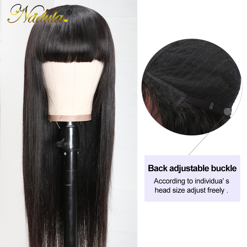 Nadula Hair Natural Machine Made Wig Straight Long Wig With Bangs  Wigs With Bangs  2