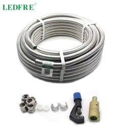 LEDFRE 304 Stainless Steel Corrugated Tube 3/8