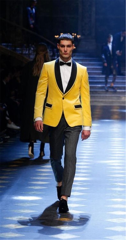 Black Shawl Lapel Men Formal Suits 2020 One Button Latest Design Groom Groomsman Wedding Tuxedos Tailored (Jacket+Pant)