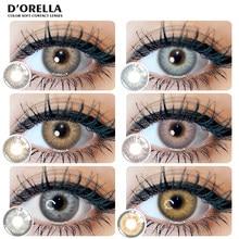 Dororella 1 par (2 pces) 2021 nova chegada barbie série cor lentes de contato macio para olhos lentes cosméticos olho cor beleza aluno