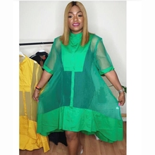 African-Clothes 2piece-Set Women for Midi Dress Vintage Half-Sleeve Boubou Femme Vestidos