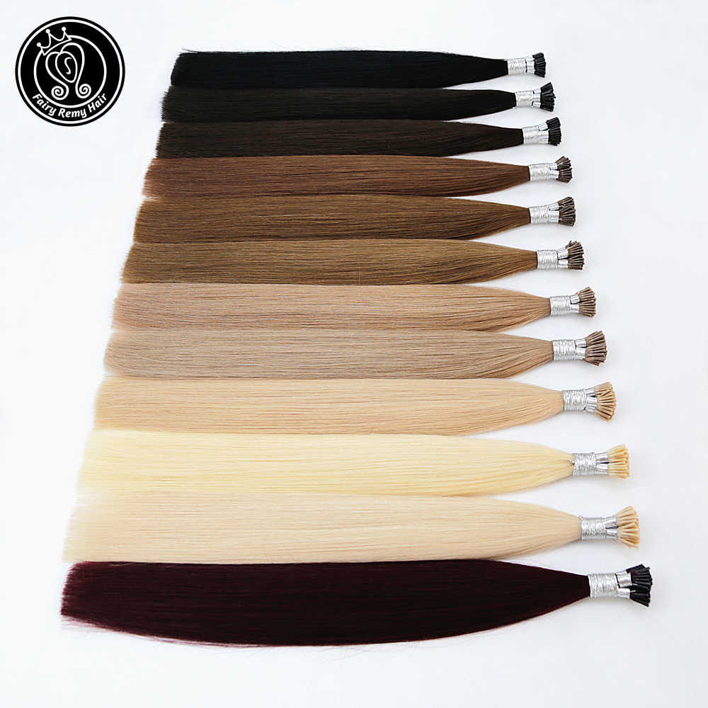 I Tip Keratin Pre bonded Hair Extensions Real Remy Russian Human Hair On The Capsule Fusion Hair 0.8g/s 16 - 20 inch 40g/pack