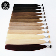 I Tip Keratin Pre bonded Hair Extensions Real Remy Russian Human Hair On The Capsule Fusion Hair 0.8g/s 16   20 inch 40g/pack