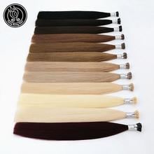 I Tip keratyny Pre związane włosy rozszerzenia prawdziwe Remy rosyjskie włosy ludzkie na kapsułce Fusion włosy 0.8 g/s 16   20 cali 40 g/paczka