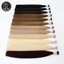 Je pointe les vrais cheveux russes de Remy de prolongements pré collés de cheveux de kératine sur les cheveux de Fusion de Capsule 0.8 g/s 16   20 pouce 40 g/paquet