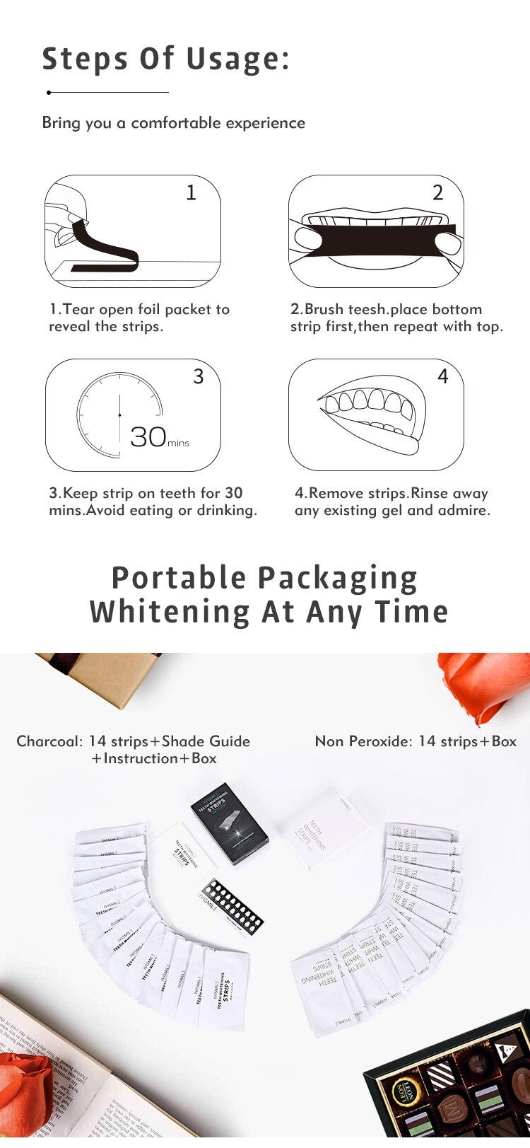 higiene oral limpo dental branqueamento tira