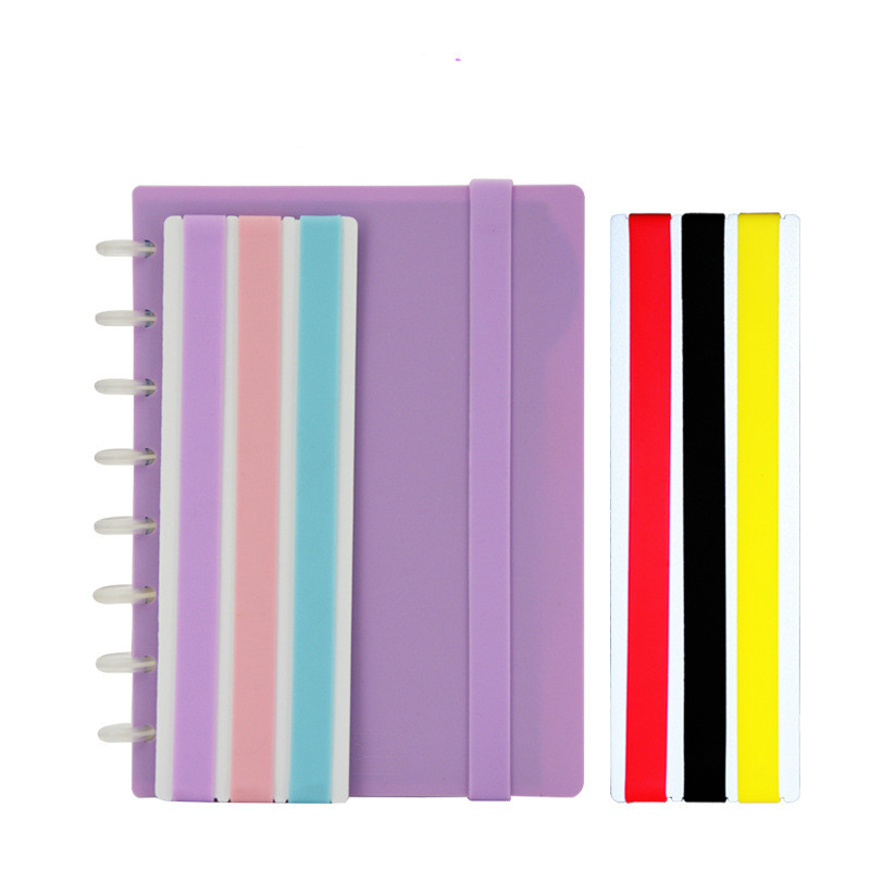 3PCS A5 Silicon Notebook Multifunctional Strap Color Silicone Notepad Strap Candy Color Book Tether Rope Portable Easy To Use