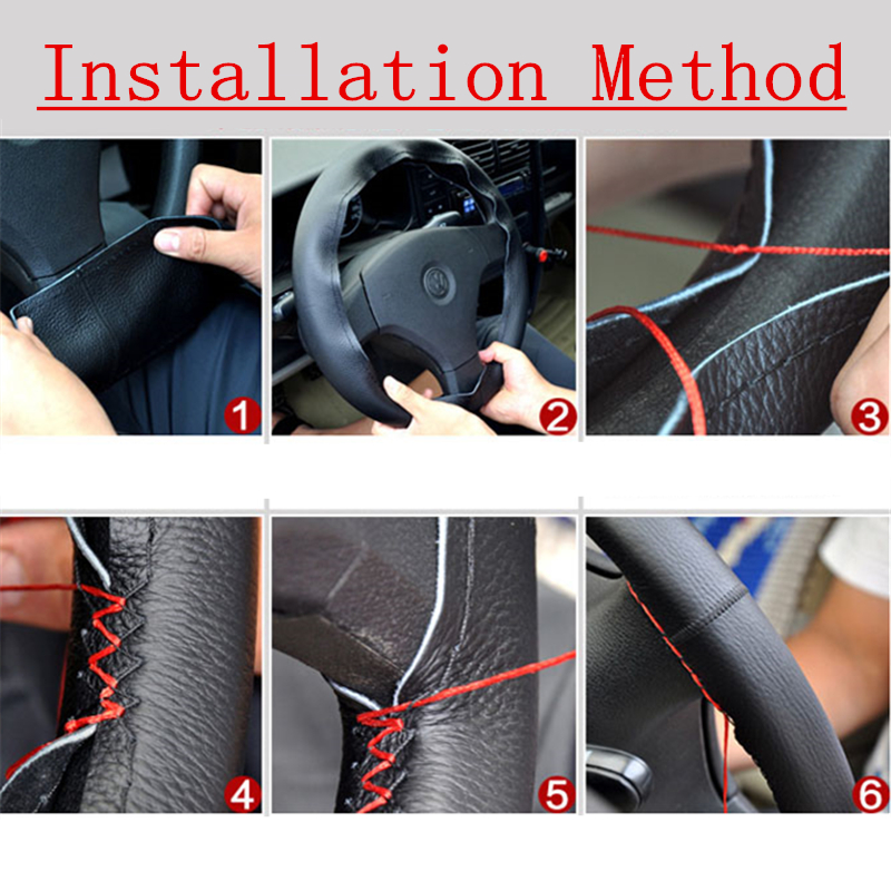 Image 4 - Braid On leather Steering Wheel Cover for renault logan kia sportage 3 dacia logan passat b5 opel corsa c yeti-in Car Tax Disc Holders from Automobiles & Motorcycles