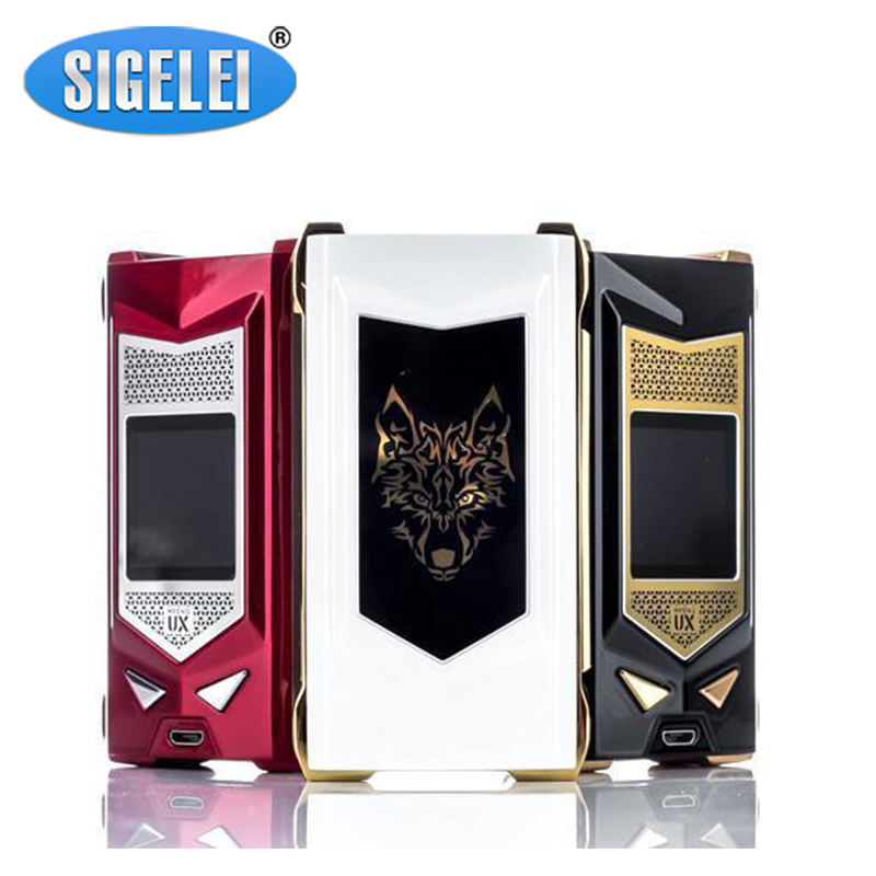 Clearence!!  Sigelei Snowwolf Mfeng UX Box Mod 1.3 Inch TFT Display Vape Mod Powered By Dual 18650 Batteries E Cigarette Mod