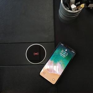 Image 2 - Ingebouwde Desktop Draadloze Oplader Desktop Meubilair Ingebed Qi Snelle Draadloze Oplader Opladen Voor Iphone 11 Samsung Xiaomi Mi9