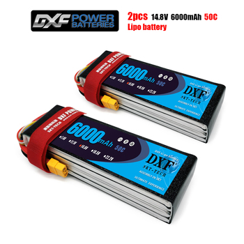 DXF Lipo Battery 4S 14.8V 6000MAH 50C MAX100C T/XT60 LiPo RC Battery For Rc Helicopter Car Boat drone truck quadcopter Traxx 1500mah 14 8v 4s 45c lithium li po battery xt60 plug 2pcs for rc helicopter qudcopter drone truck car boat bateria