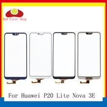 10 adet/grup Için Dokunmatik Ekran P20 Lite Dokunmatik Panel Sensörü Sayısallaştırıcı Ön Cam Dış Nova 3E Dokunmatik LCD YOK