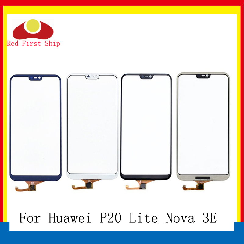 10Pcs/lot Touch Screen For Huawei P20 Lite Touch Panel Sensor  Digitizer Front Glass Outer Nova 3E Touchscreen NO LCDMobile Phone  Touch Panel