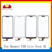 Tela Sensível Ao Toque Para Huawei P20 pçs/lote 10 Lite Painel de Sensor de Toque Digitador Frente de Vidro Exterior Nova 3E Touchscreen SEM LCD