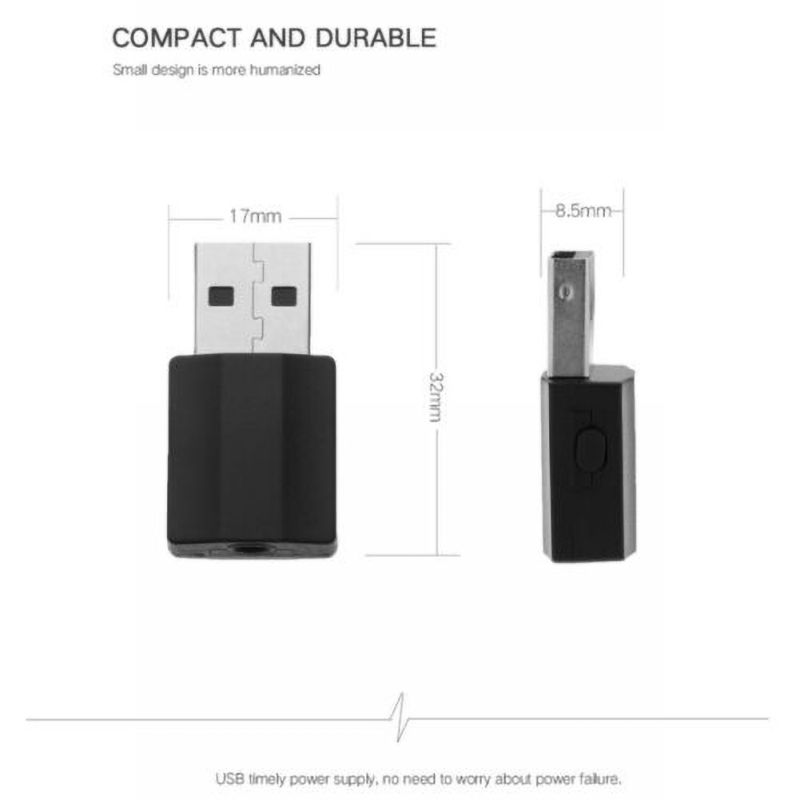 2 In 1 <font><b>Bluetooth</b></font> Receiver Transmitter <font><b>Bluetooth</b></font> <font><b>5.0</b></font> Adapter Audio Receiver <font><b>USB</b></font> Transmitter Digital Devices image