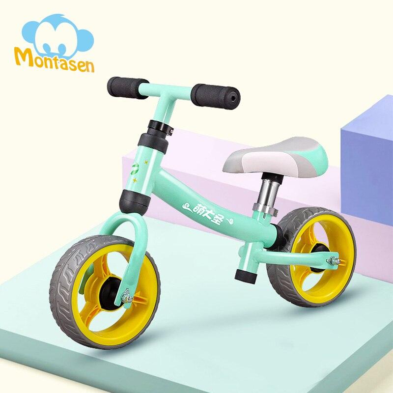 Детский велотренажер Montasen для детей от 1,5 до 3 лет с высокоуглеродистой рамой, велотренажер для мальчиков и девочек, Мини Велотренажер
