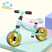 Montasen Children Push Bike for 1.5 3 Year Old Kids High Carbon Frame Balance Cycle for Boy Girls to Walk Mini Push Bicycle