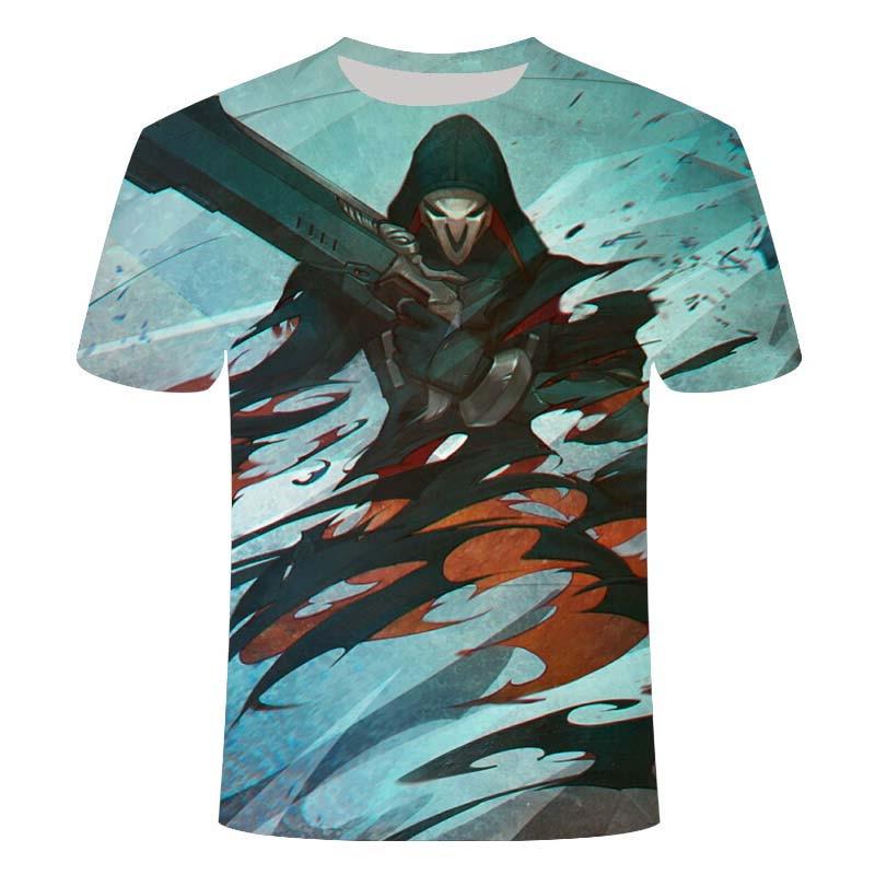 2021 e-sports game Overwatch 3DT shirt men's fashionable e-sports battlefield men's t-shirt game pattern 3D clothes 4