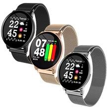 Gosear ブレスレットリストバンド W8 防水スマート腕時計スマートウォッチスポーツフィットネストラッカーとステンレス鋼ストラップ 1.3 インチディスプレイ