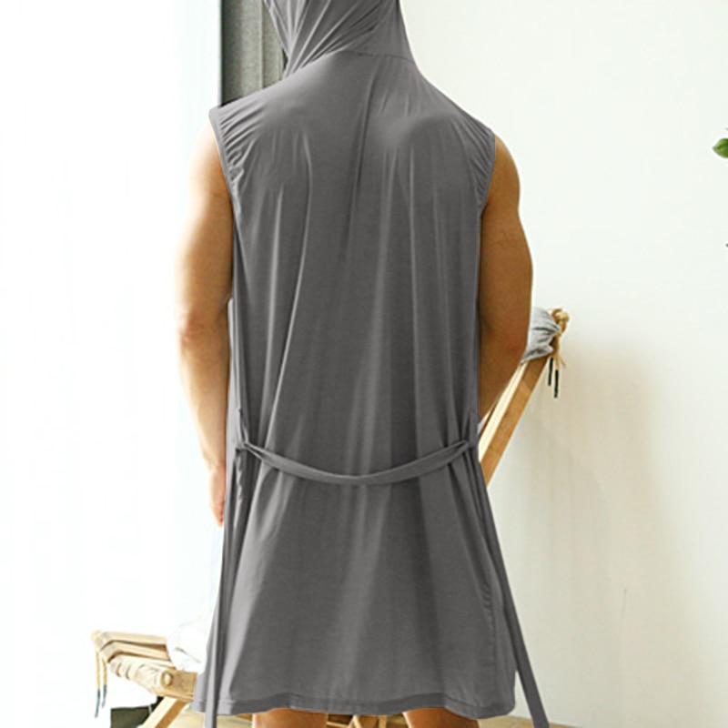 Incerun verão conjuntos de roupão masculino loungewear