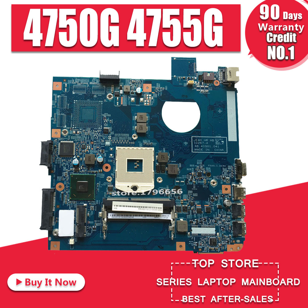 Akemy For Acer Aspire 4750 4750G 4755G Laptop Motherboard 48.4IQ01.041 Mainboard 100% Working