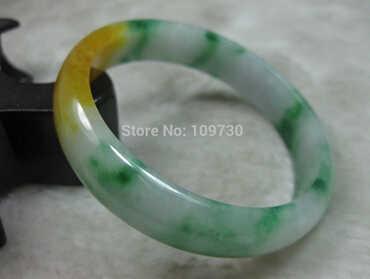 Frete grátis>>>>> 626219 natureza bela verde amarelo jade jadeite pulseira brangle 55mm