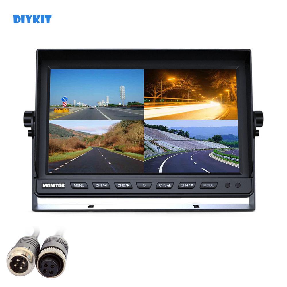 7INCH Split Monitor Screen+4x Backup Camera DVR Video Recorder HD 800*480P 1+4