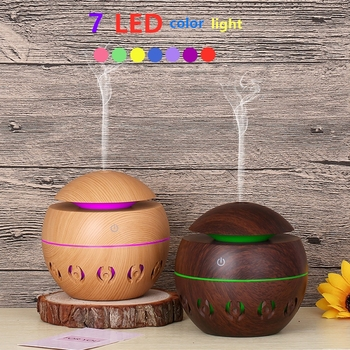 Electric Aroma Air Diffuser Humidifie Wood Ultrasonic Air Humidifier Essential Oil Aromatherapy Cool Mist Maker for Home tsundere l air humidifier 500ml essential oil diffuser essential oil wood grain cool mist maker aromatherapy for home