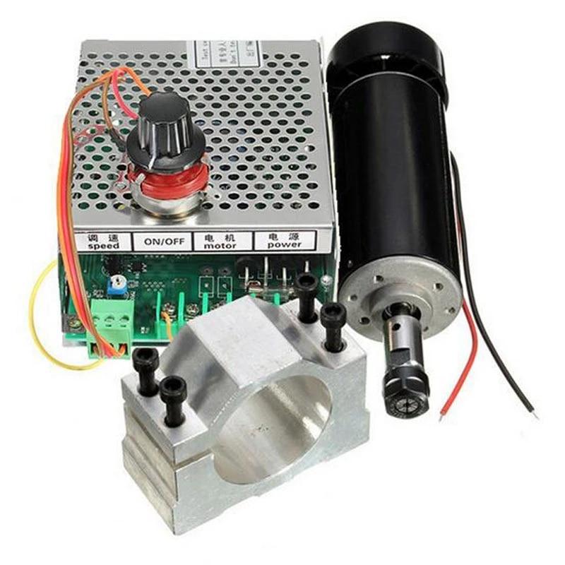 500 Вт шпиндель с воздушным охлаждением ER11 патрон с ЧПУ 500 Вт мотор шпинделя + УФ-фильтр 52 мм с зажимы + Питание регулятор скорости для гравиров...