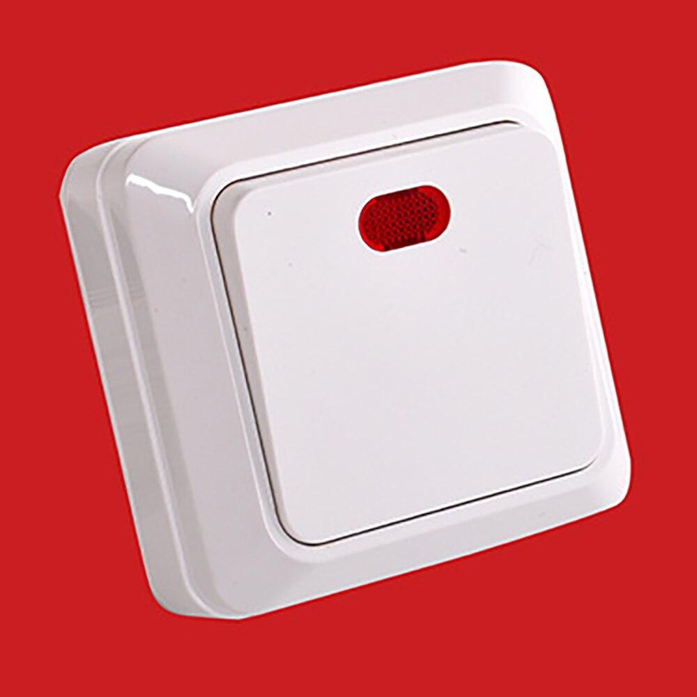 Настенный выключатель 10A Eu 1Gang 1 Way, установленный непосредственно, кнопочный выключатель, настенный светильник, Панель рамы ПК, переключатель вкл./выкл.|Выключатели|   | АлиЭкспресс