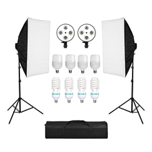 Photography Softbox Lightbox Kit 8PCS 135W Bulb E27 Base Holder  for Camera Photo Studio Portraits Photography Video Shooting