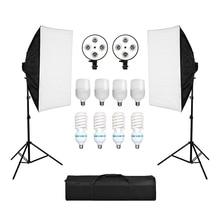 การถ่ายภาพ Softbox Lightbox ชุด 8PCS 135W หลอดไฟ E27 ฐานสำหรับกล้องถ่ายภาพสตูดิโอถ่ายภาพการถ่ายภาพวิดีโอ