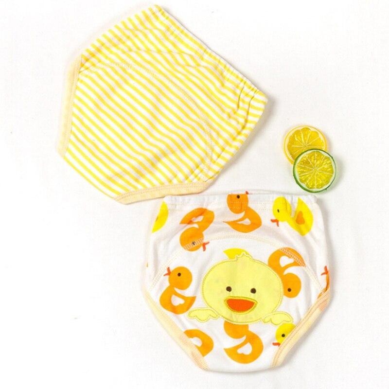2 шт./компл. для приучения к горшку Брюки Подгузники для детей для маленьких мальчиков и девочек из хлопковой ткани Подгузники трусики
