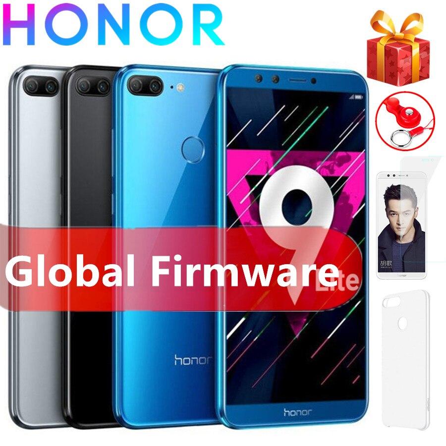 Honor 9 Lite 4G LTE 3 Гб RAM 32 Гб ROM Android 8,0 Kirin 659 Восьмиядерный 13.0MP Wifi GPS Touch ID 3000 мАч мобильный телефон
