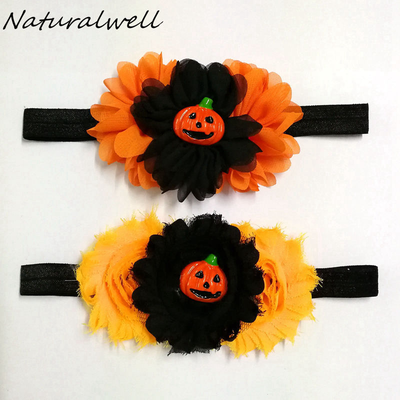 Halloween Baby Girl Headband Infant Pumpkin Headbands Hair Bat Tie Bows Newborn Tiara Headwrap Gift Toddlers Headwear HB864B