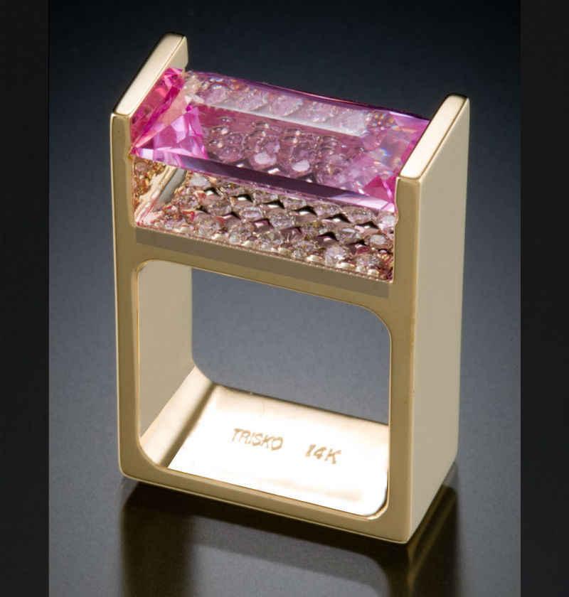 Vàng 14K Cưới Kim Cương dành cho Nữ Anillos Bizuteria Đính Đá Topaz Đá Quý Vàng 14K Kim Cương Nhẫn bizuteria