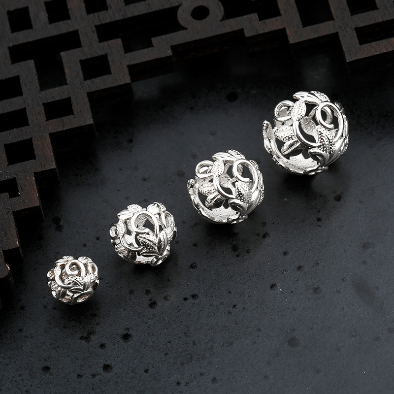 925 Sterling Silver Flower Bead Spacer Fit 6 8 10 12mm Encircle Charm Silver Bead Caps Separator DIY Fine Jewelry Accessories
