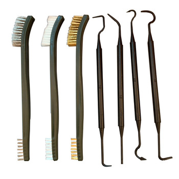 Universal Gun Hunting Cleaning Kit Steel Wire Brush Nylon Pick Set Tactical Rifle Pistol Gun Hunting Cleaning Tool Accessories 1