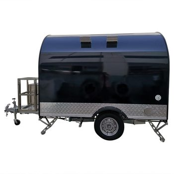 custom made food truck concession food trailer Black Stainless Steel Concession Food Trailer Food Truck