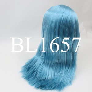 Image 5 - blyth doll icy wig only rbl scalp and dome fat hair, golden blonde black straight blue orange hair